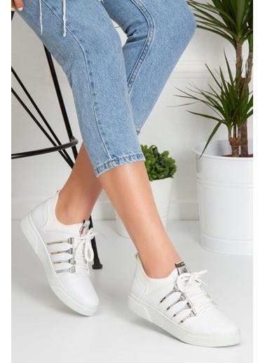 Derithy Sneaker-Kırmızı-Abn0604 Beyaz